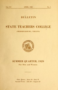 Cover of the State Teacher's College Bulletin